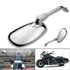 Motorcycle Oval Chrome Rear View Glass Mirror For Ducati KTM Kawasaki
