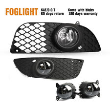 Fits 09-15 Mitsubishi Lancer Fog Light Clear Lens Bumper Lamp Wiring Kit&Switch (Fits: Mitsubishi)