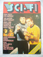 TV SCI FI MONTHLY No 3 magazine / fold out poster 1976 iss star trek space 1999