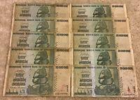 Lot Of 10 X 50 Million Dollar Banknotes. Zimbabwe. Harare 2008.