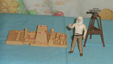 vintage ROTLA Indiana Jones MAP ROOM PARTS LOT with INDY action figure