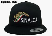 Sinaloa Black And Gold Mexico colors Trucker hat Brand New Ships !!!