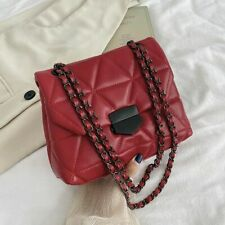 Embroidery Thread Small PU Leather Crossbody Bag Ladies Hand Bag Shoulder Purse