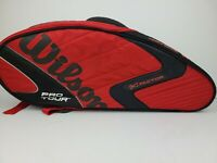 Wilson Pro Tour K Factor Backpack Tennis Racket Bag Red Black