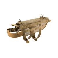 OneTigris Tactical K9 Mesh Dog Harness Training Molle Nylon Vest for M/L Dogs