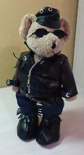 Tan Teddy Bear Motorcycle Jacket Hat Jeans Boots Plush Bear stuffed toy animal