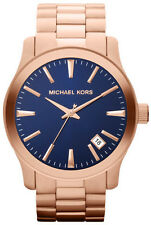 NEW MICHAEL KORS MK7065 ROSE GOLD RUNWAY WATCH