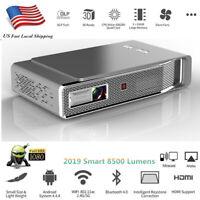 8500 Lumens Full HD 1080P 4K DLP Projector Wifi 3D Theater Cinema HDMI RJ45 SD