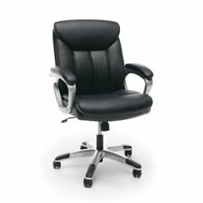 Ofm Essentials Leather Executive Office Chair In Black