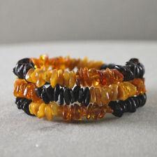 Natural Baltic amber bracelet multicolor