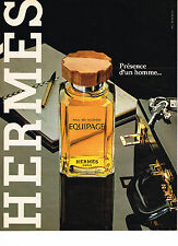 PUBLICITE ADVERTISING 044   1981   HERMES   eau de  toilette EQUIPAGE