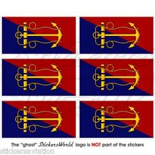 CANADA Canadian Navy Naval Board Flag Mobile Cell Phone Mini Stickers, Decals x6