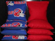 All Weather Buffalo Bills Cornhole Bean Bags Resin Filled Waterproof!