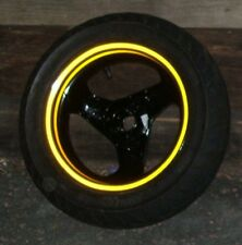 REFLECTIVE SCOOTER moped WHEEL rim STICKERS tape YELLOW