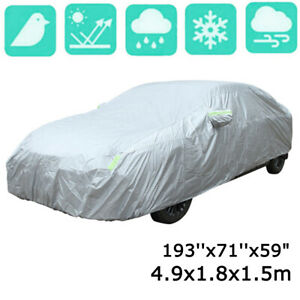 Waterproof Full Car Cover Sun UV Rain Dust Resistant Protection Fit for Sedan US