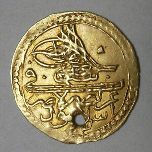 Ottoman Empire. Selim III gold 1/2 Zeri Mahbub AH 1203 KM19/517; F.80 ; Sp.3433