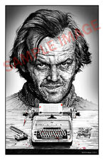 "The Shining jack nicholson 11x17"" horror art print halloween Stephen King"