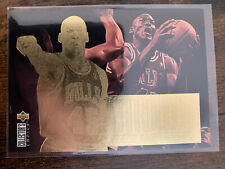 🏀 Michael Jordan Gold Foil Jordan Collection 1995-96 UD Choice Insert Card #JC4