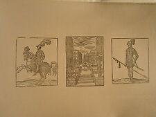 Planche gravure  Moyen age Salomon Bernard Lyon 1540 Entrée de Henri II Roville