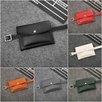 Womens PU Leather Waist Fanny Pack Mini Wallet Phone Coin Key Bum Bag Belt Purse