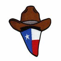 Texas Flag Cowboy Bandana Embroidered Iron On Applique Patch