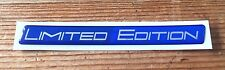 LIMITED EDITION Sticker/Decal - TWO TONE BLUE/BLUE HIGH GLOSS DOMED GEL FINISH