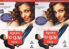 KYUN HO GAYA NA - EROS BOLLYWOOD 2 DVD SET - Amitabh Bachchan, Aishwarya Rai.