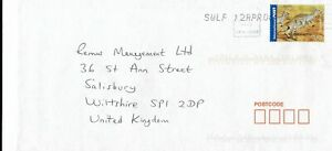 A Envelope From Australia 2006 To Salisbury Wiltshire
