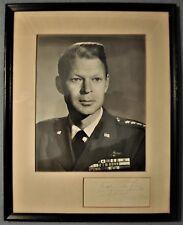 Signed & Framed Photo of General Lauris Norstad Supreme Allied Commander Europe