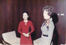 OLD PHOTO WOMEN GLAMOUR FASHION DRESS SCARF ETHNIC ASIA W2