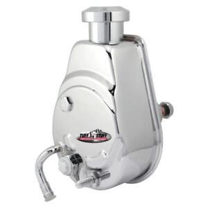 Tuff Stuff Power Steering Pump 6183A; 1200psi Saginaw Chrome for 70-74 Malibu