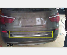 2014 2015 For BMW X3 F25 Rear Outer Bumper Skid Guard Sill Plate Stainless 1pc