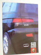 Prospekt Alfa Romeo 145 Editione Sportiva, 5.2000, 4 Seiten, Hochglanz