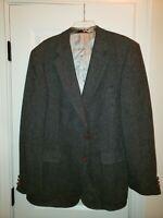 English Manor Gray Blazer Jacket - Men's Size 46L Classic Scottish Tweed Style