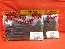 "STRIKE KING Rage Tail 6"" Cut-R Worm (7cnt) #RGCUT56-18 Wtrmln Red Flake (2 pks)"