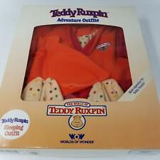 Vintage Grubby Teddy Ruxpin Adventure Sleeping Outfit Pjs Hat Book Cassette New
