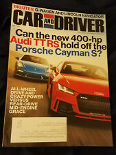 Car And Driver March 2018 Issue: G-Wagen and Lincoln Navigator, Rear Drive etc