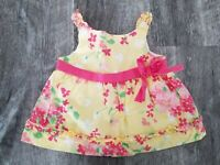Baby Girls ~ JANIE And JACK ~ Yellow Floral Swing Tank Top Sz 3-6 Months