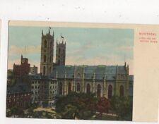 Montreal Eglise de Notre Dame Vintage Postcard Canada 516a