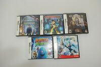 Lot of 5 Nintendo DS Games Cases Night museum Astro Robots Wild things Aliens