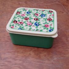 green floral lunch box by dotcomgiftshop