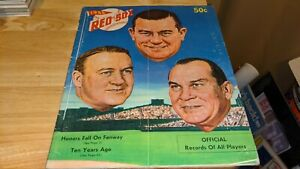 1956 Boston Red Sox Baseball Yearbook Ted Williams