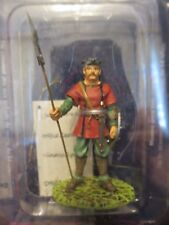 DeAgostini SM042 Infantryman w/Shield Lancer Warrior Medieval Lead Figure #31