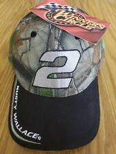 NEW RARE Vintage CAMO Rusty Wallace Nascar Strapback Hat Cap