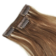 100g 7pcs Full Set Clip in Remy Extensions 100% Human Hair 16''18''20''22''24''