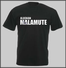 SLED DOG SPIRIT T SHIRT ALASKAN MALAMUTE IMAGE TEXT DAD MUM PRESENT BIRTHDAY