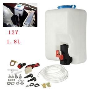 1 Set UTV Car Universal Windshield Washer Pump Reservoir 12V Washer Flui Part