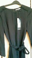Jaeger London Fashion Week Negro Crepé Vestido se ajusta de talla 8-10 RRP £ 399