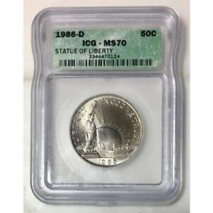 1986 D Statue Of Liberty Half Dollar ICG MS70 *Rev Tye's* #012499