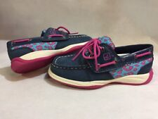 Sperry Top Sider kids Shoes Toddlers Size 10M Navy/ Pink Leather Eur 27.5